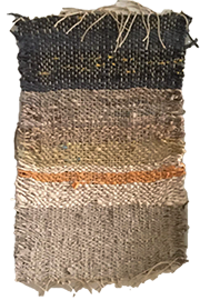 Hand-made weaving in subtle earth colors, by Melissa Hilliard Potter